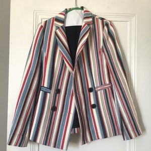 Nanette Lepore blazer - striped & double breasted